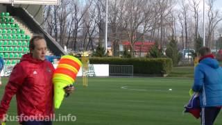 Тренировка сборной России по футболу 20.03.2017