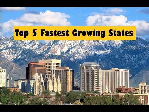 Top 5 FASTEST GROWING States In The USA | Travel Analysis