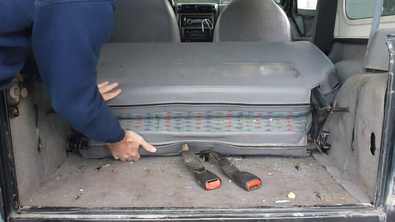 Wrangler Tj Rear Seat Removal And Spare Tire Storage Youtube
