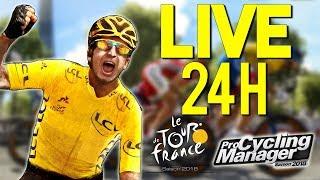 🔴 LIVE 24H SUR TOUR DE FRANCE 2018 & PRO CYCLING MANAGER 2018 !!!