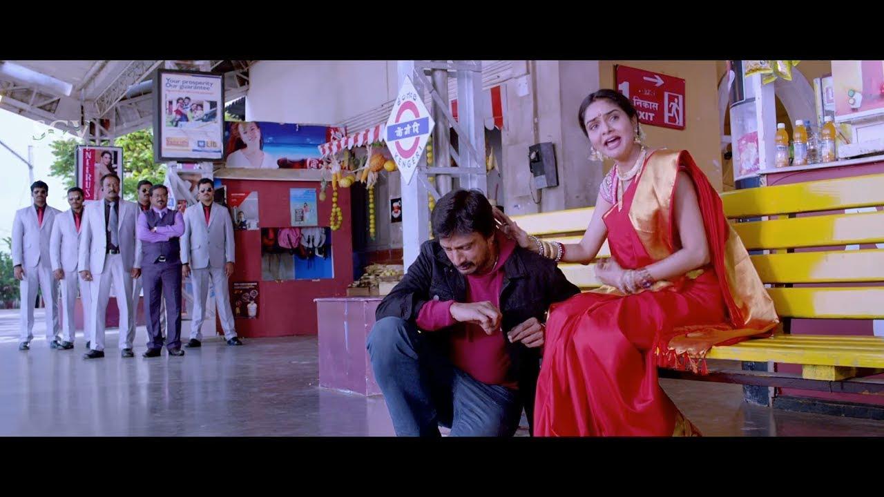 Sudeep Emotional talk and Convince Madhubala   Best Scenes of Kannada Movies