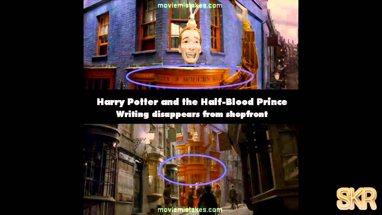 movie mistakes harry potter and the halfblood prince