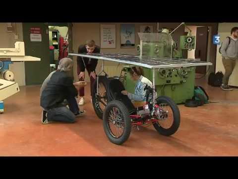 France 3 JT 19/20 : Tarbes le vélo solaire pour participer au SUN TRIP   France