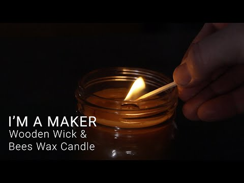 Use a DIY Wooden Wick for Beeswax candles | #maker #woodworking #diy