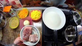щи из свежей капусты, перловая каша с мясом в духовке