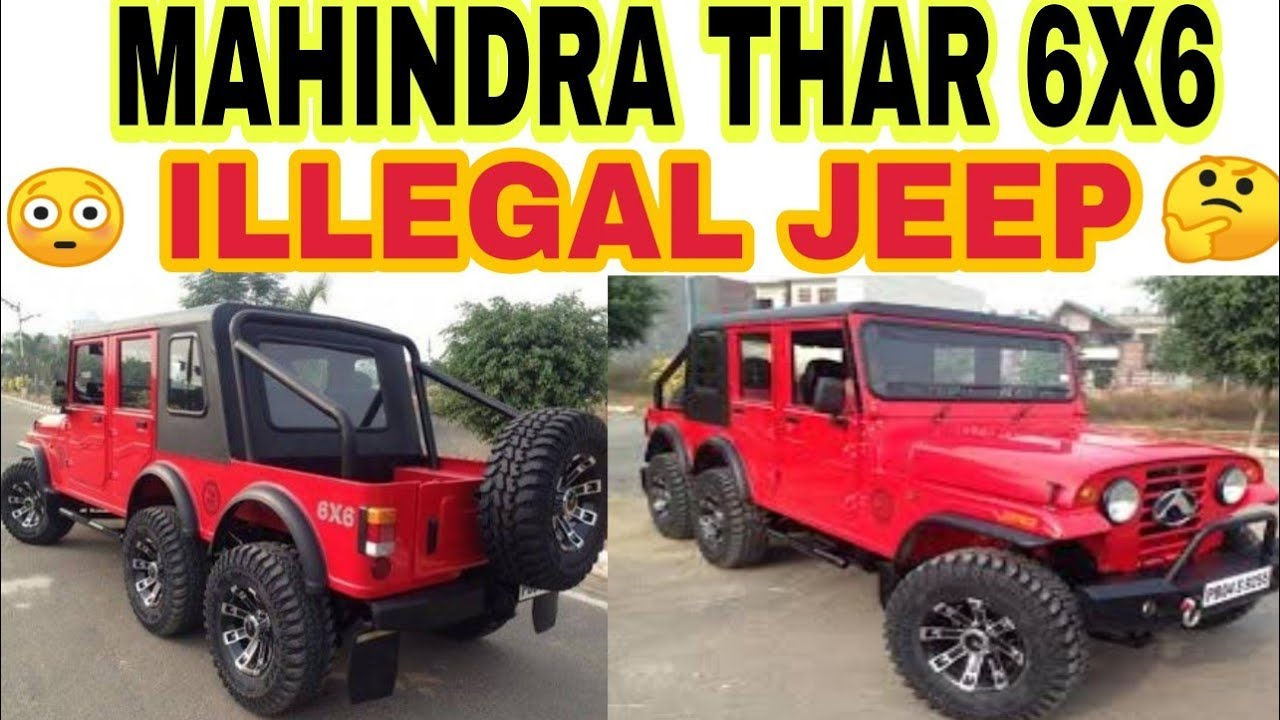 ILLEGAL MAHINDRA THAR 6X6 JEEP | JD VLOGS DELHI