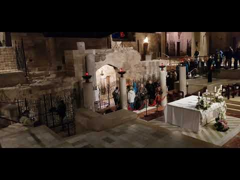 The Story Of St. Mary And Jesus House In Nazareth, Israel. Church Of The Annunciation In Nazareth