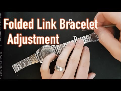 Gkimmy How To] Folded link bracelet sizing adjustment, Seiko 5, Vintage watches