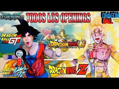 TODOS Los Openings de Dragon Ball DB,DBZ,DBZ2,DBGT,DBZKai,DBS y DBS2 (Goku)