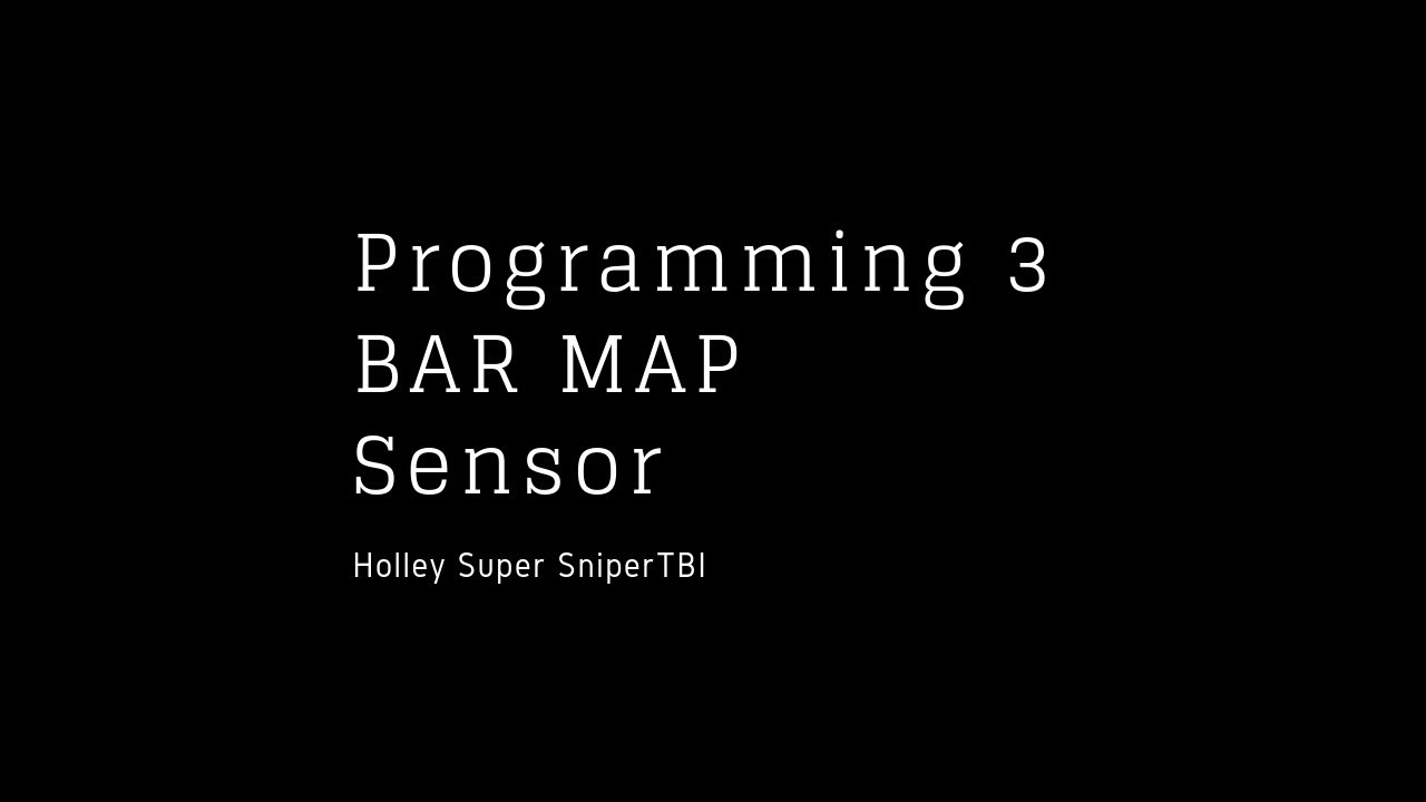 small resolution of holley super sniper external map sensor