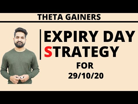 Nifty Expiry Day Strategy | 29th October 2020 | Theta Gainers