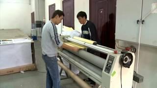 Как печатают баннеры и изготавливают наружную рекламу в Алматы(Сюжет о том какие станки используют для широкоформатной печати, как печатают на баннерной сетке в Алматы...., 2016-03-17T03:22:20.000Z)