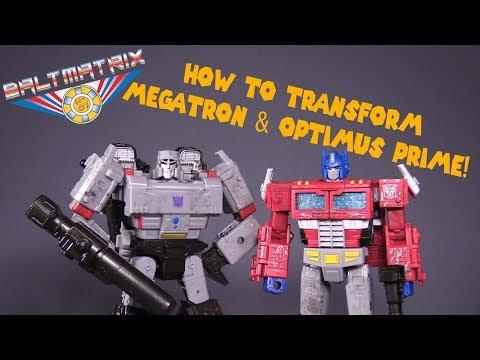 How to Transform Siege Voyager Class Megatron & Optimus Prime