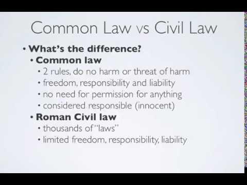 Common Law vs Civil Law - YouTube