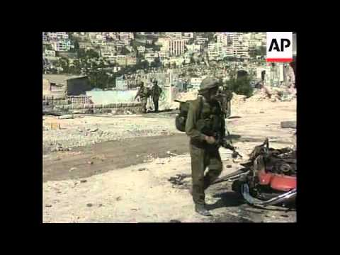 Tanks and troops on the streets of Nablus