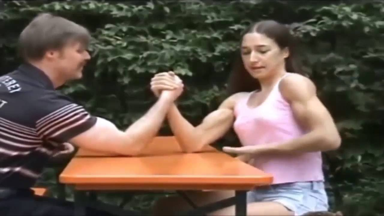 Women very muscular Vs Men Mixed Armwrestling