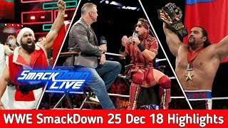 WWE SmackDown Live 25 December 2018 Highlights ! WWE SmackDown Highlights 12/25/18