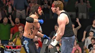 WWE 2K17 TLC 2016 - Dean Ambrose vs AJ Styles WWE World Championship Match!