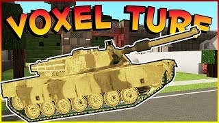 Voxel Turf Game - 5 STAR POLICE CHASE & STEALING A TANK! - Voxel Turf Multiplayer Gameplay