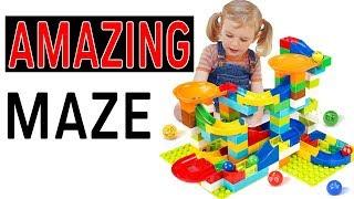 Amazing Marble Maze Run Race Ball Track Blocks Building