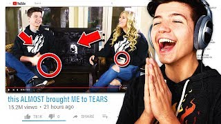 WE COULDN'T STOP LAUGHING😂 (Preston and Bri React to Old Videos)