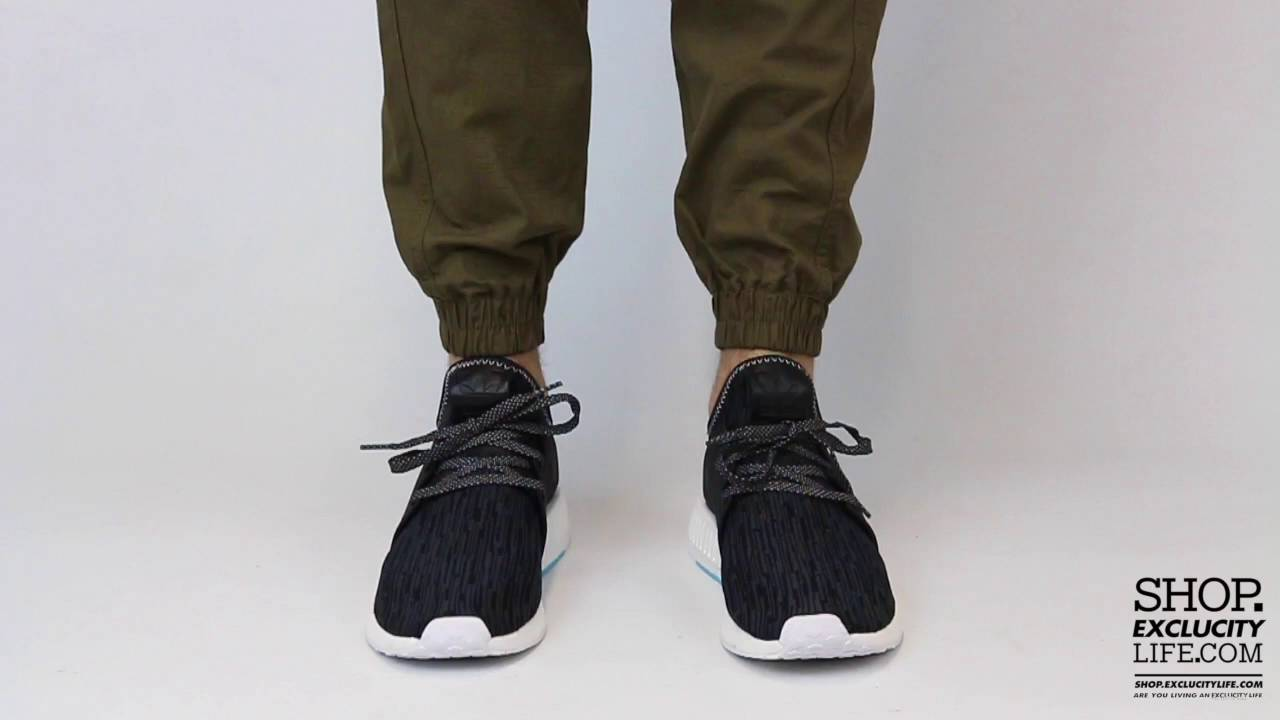 54f8e72a Adidas NMD XR1 Primeknit Black Blue On feet Video at Exclucity - YouTube