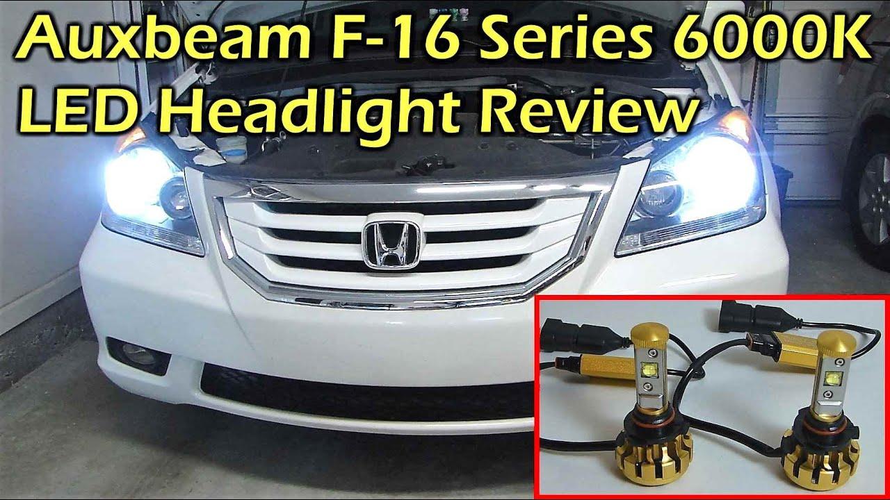 Auxbeam F16 6000k 30w Led Headlight Review Honda Odyssey 9006 Bulb
