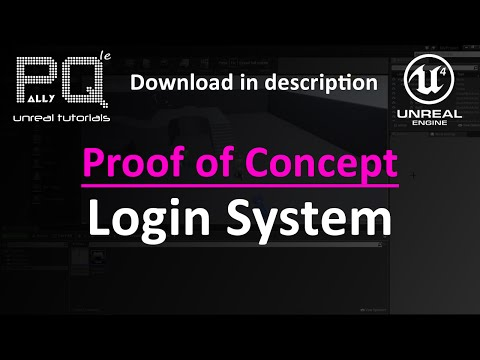 Unreal Engine 4 Proof of Concept - Login System