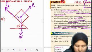 FIZIK KSSM TINGKATAN 5_1.3 KESEIMBANGAN DAYA_CONTOH 2(a)
