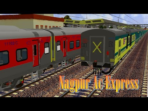 Nagpur Ac Express Departure From Itarsi Junction || Xing & Overtake || Khandesh In Open Rail