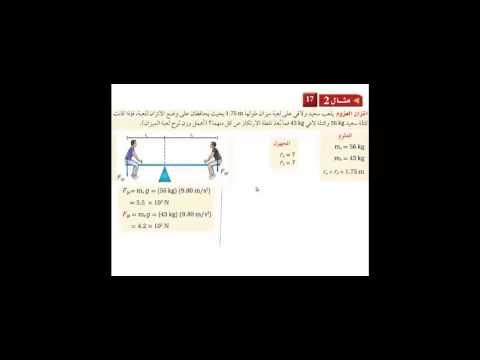 منظومة معرفة | مادة الفيزياء للصف الثاني الثانوي | درس محصلة العزم