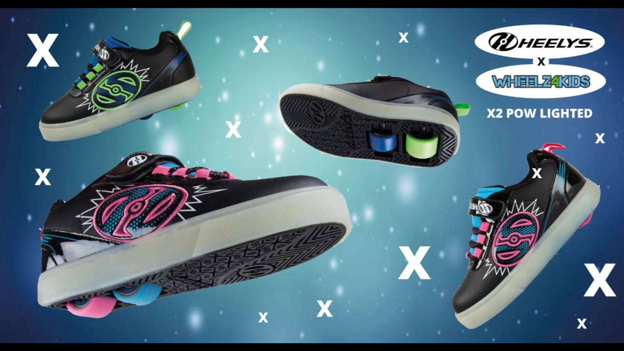 HEELYS X2 DUAL UP POW LIGHTED, ROSA