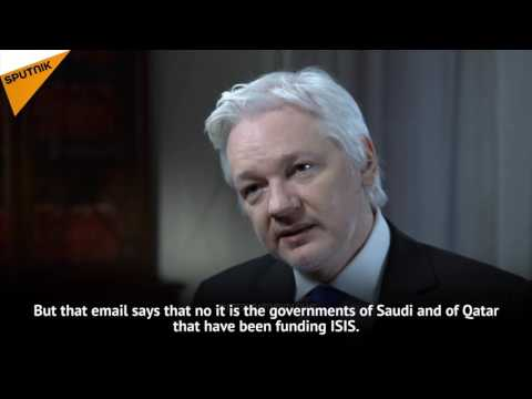 Julian Assange Gives Evidence of Saudi, Qatari Governments  Financing Daesh