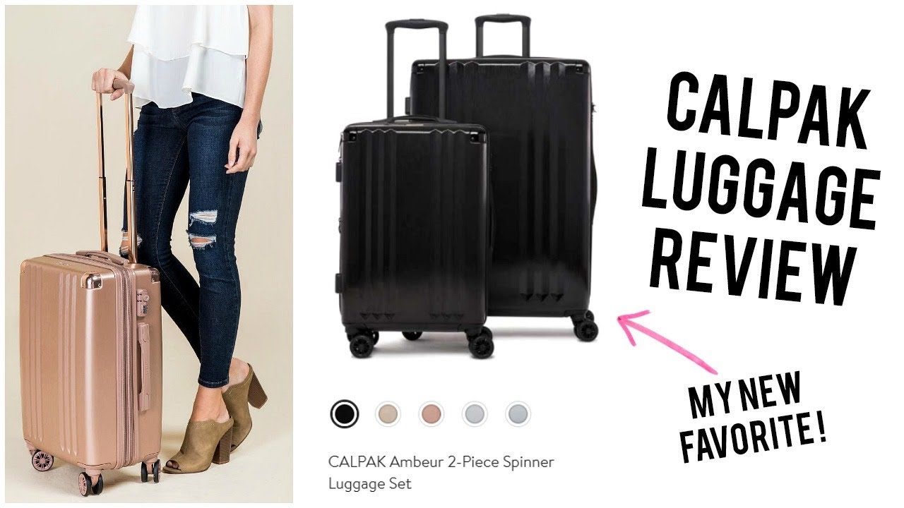 c48896d70 CALPAK LUGGAGE REVIEW | AMBEUR SPINNER LUGGAGE SET - YouTube