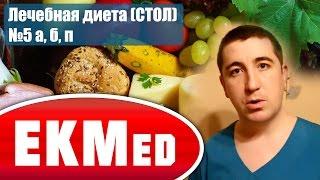 EKMed — Лечебная диета (СТОЛ) №5 а, б, п (Дополнение к диете №5)