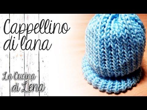 Tutorial  Cappellino di Lana con TELAIO CIRCOLARE  (Knitted hat with  Circular Loom) e97c1497e61c
