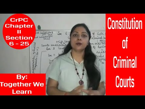 Constitution and Hierarchy of Criminal Courts in India || Section 6 - 25 || Chapter II || CrPC