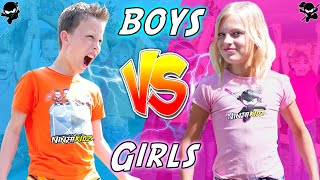 BOYS vs GIRLS! Twin Birthday Bash Challenge!