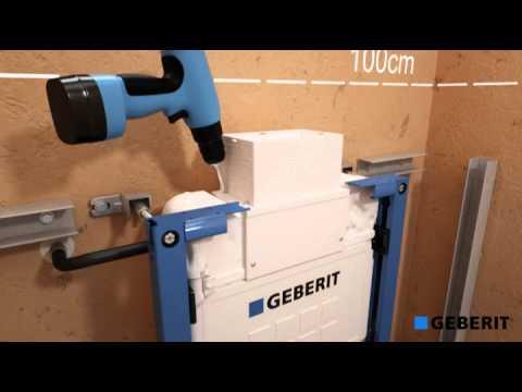 Renovatie staand toilet naar geberit duofix met zijuitgang