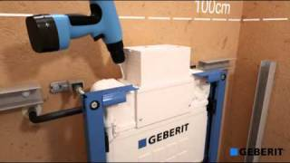 Renovatie staand toilet naar Geberit Duofix met zijuitgang. montagevideo
