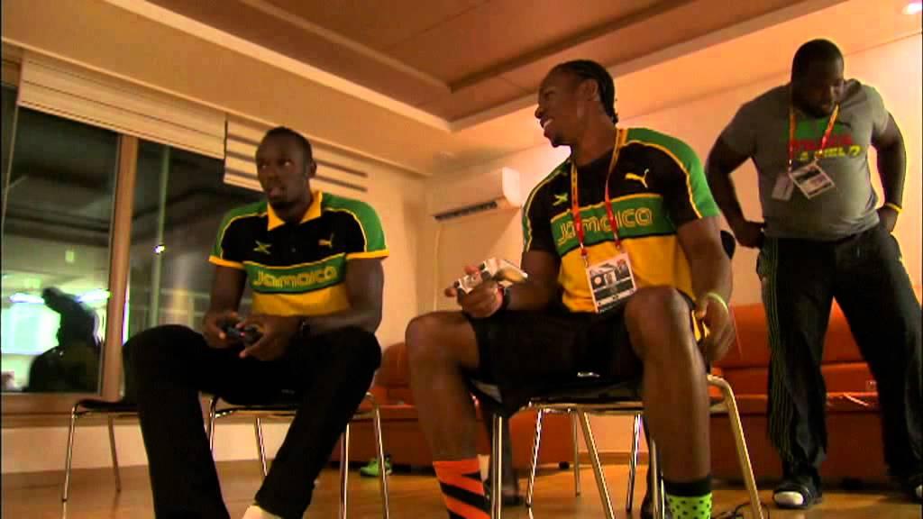 Usain Bolt - Usain Bolt Vs Yohan Blake on the Playstation