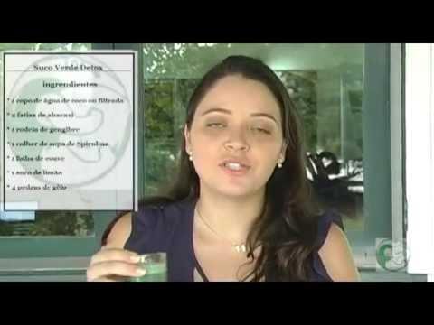 Suco Verde Detox com Spirulina Tamanduá