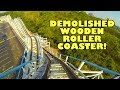 Cannonball Run CLOSED Wooden Roller Coaster! Front Seat Onride POV Waterville USA Alabama