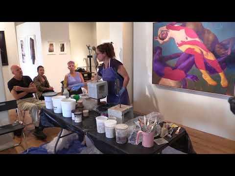 Katherine Stanek Demonstrates Her Concrete Sculpture Techniques