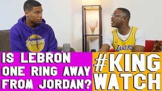 Lebron Is One Ring From Passing Michael Jordan All Time -- Agree?    #KingWatch   Hoops N Brews