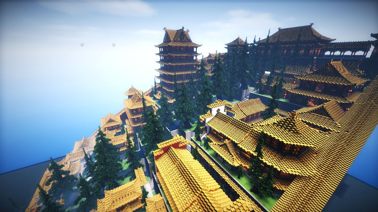 Gigantische Chinesische Brcke  Minecraft Megabuild  YouTube