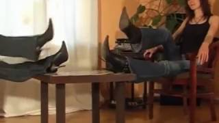 Superior Women In Jeans & Stiletto Boots