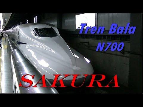 "Tren Bala Shinkansen ""Cruce 2,7s"" N700 (SAKURA) Tokio."