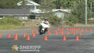 EVOC and Motorcycle Training, Sonoma County Sheriff video