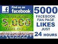 How to 5000 Likes on Facebook Page Within 24 Hours